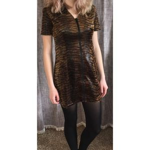 Tiger Stripe/Snakeskin Mini Dress